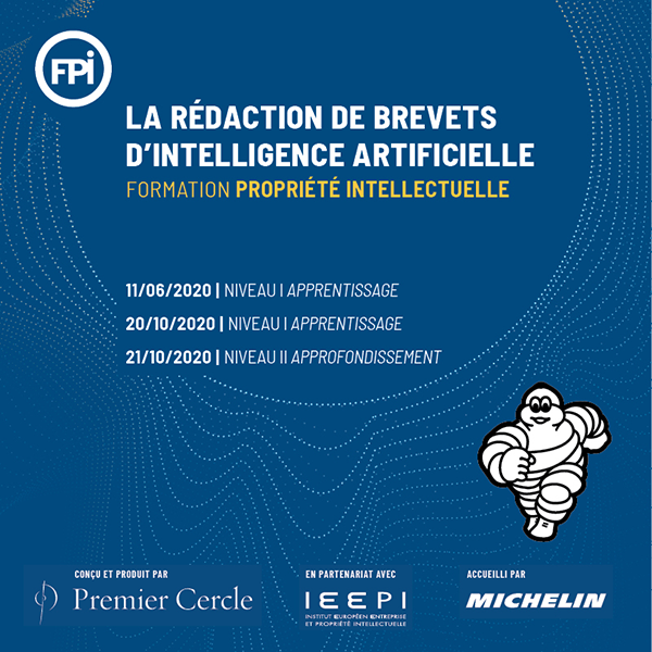 Formation PI - La rédaction de brevets d'intelligence artificielle