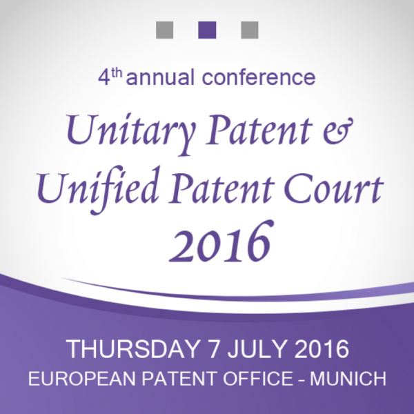 Unitary Patent & Unified Patent Court 2016