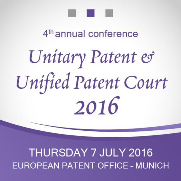 Unitary Patent & Unified Patent Court 2016