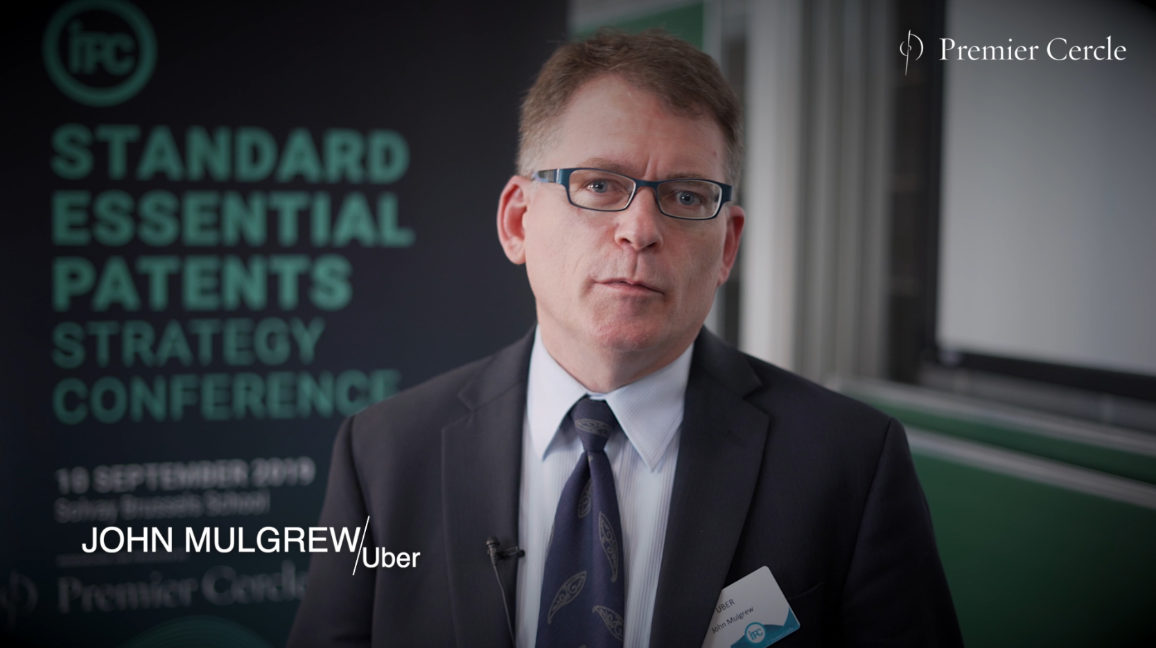 John Mulgrew, Associate General Counsel & Global Head of IP at UBER interviewed by Premier Cercle