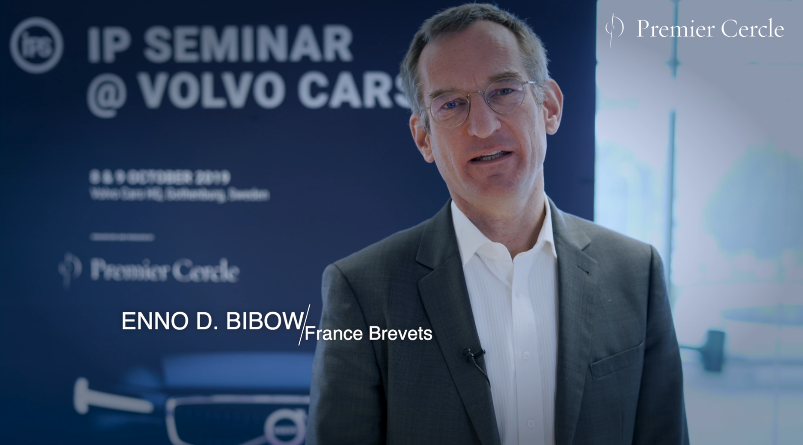 Enno D. Bibow from France Brevets interviewed by Premier Cercle