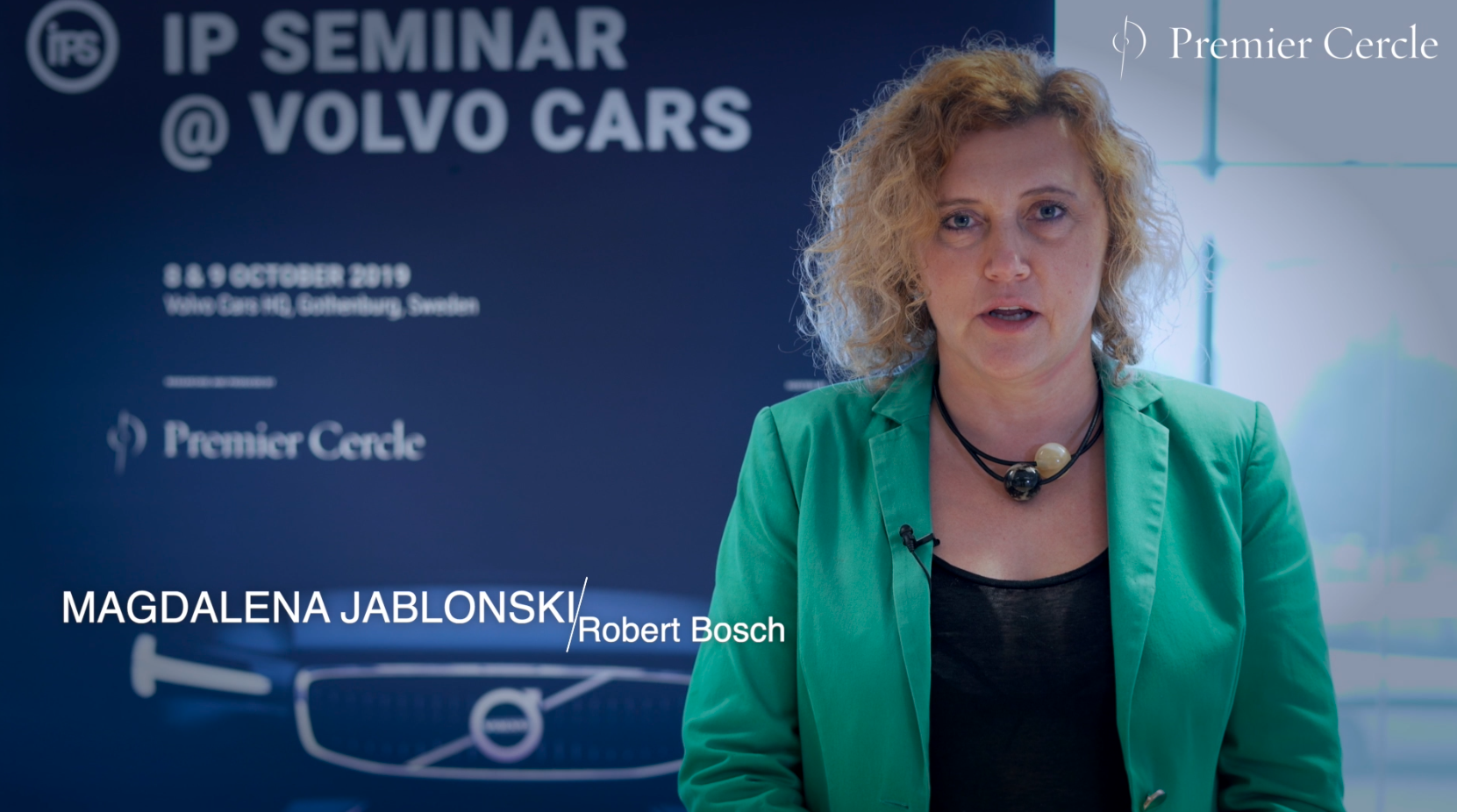 Magdalena Jablonski from Robert Bosch interviewed by Premier Cercle