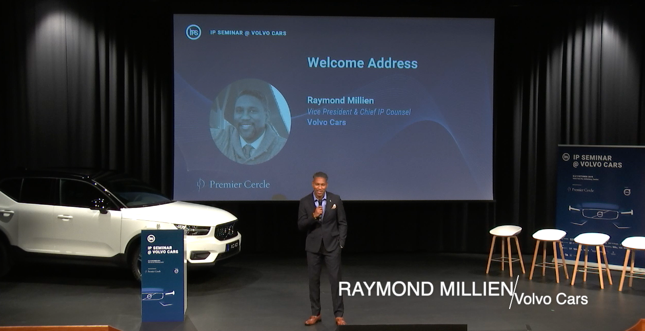 Raymond Millien motivating and challenging speech at the IP Seminar @ Volvo Cars