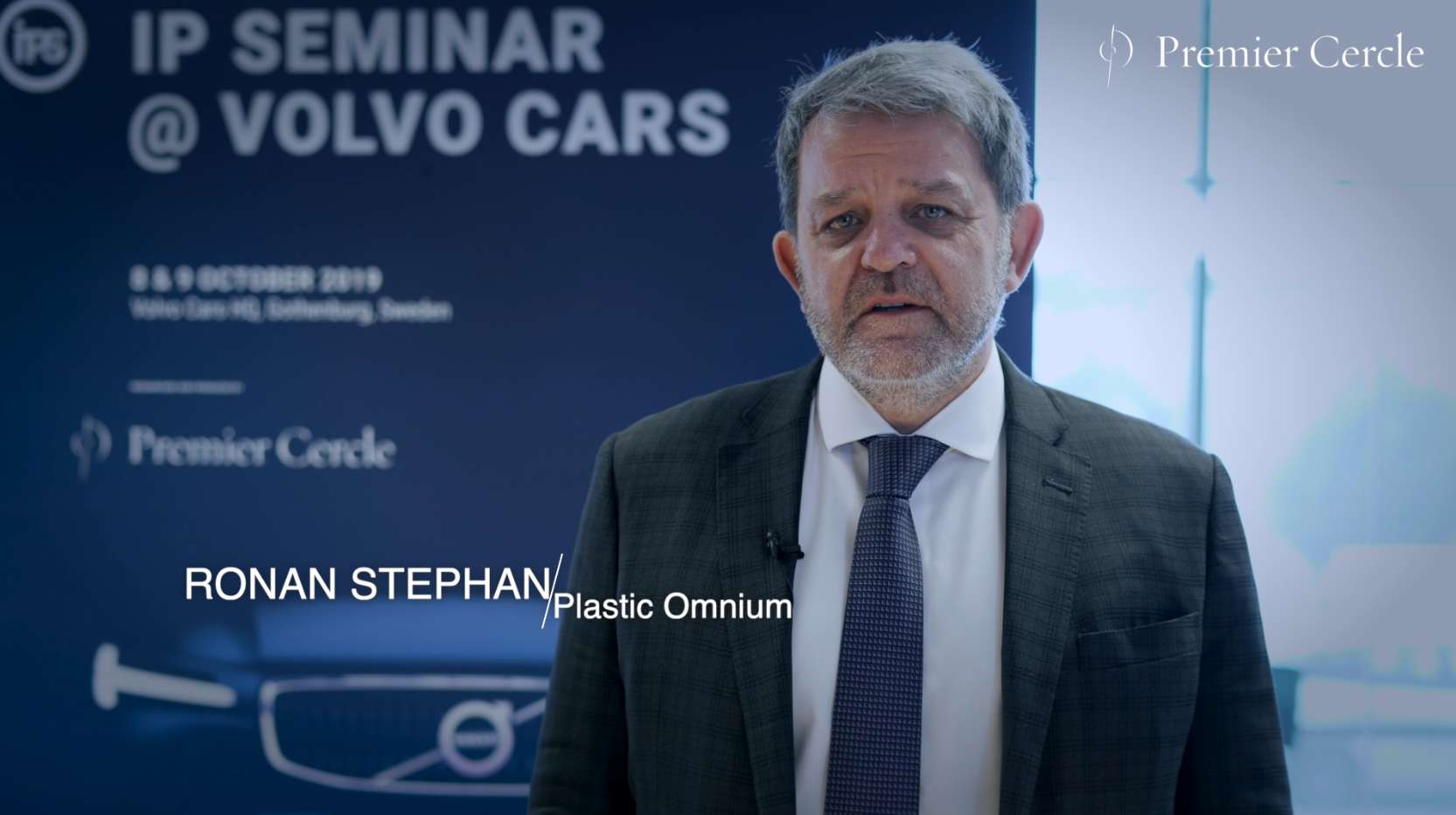 Ronan Stephan from Plastic Omnium interviewed by Premier Cercle