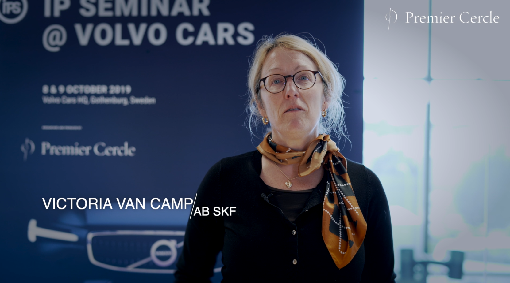Victoria Van Camp from AB SKF interviewed by Premier Cercle